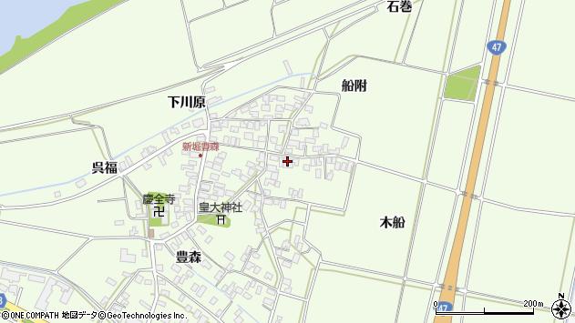 山形県酒田市新堀豊森153周辺の地図