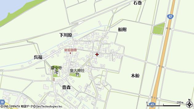 山形県酒田市新堀豊森150周辺の地図