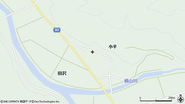山形県酒田市田沢小平48周辺の地図
