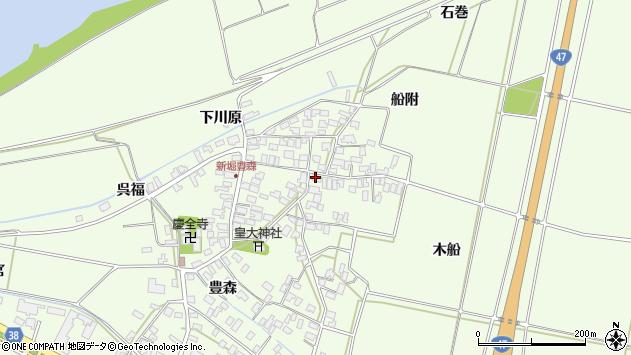 山形県酒田市新堀豊森146周辺の地図