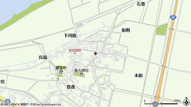 山形県酒田市新堀豊森104周辺の地図