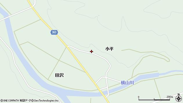 山形県酒田市田沢小平57周辺の地図