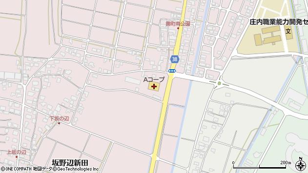 山形県酒田市坂野辺新田古川周辺の地図