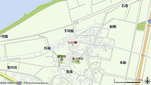 山形県酒田市新堀豊森95周辺の地図