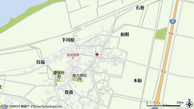 山形県酒田市新堀豊森147周辺の地図