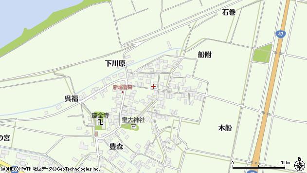 山形県酒田市新堀豊森周辺の地図