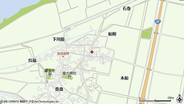 山形県酒田市新堀豊森159周辺の地図