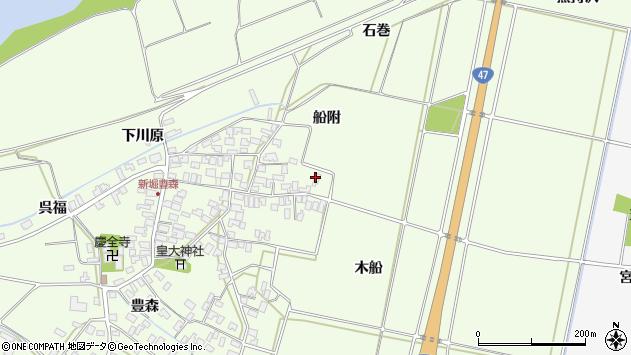 山形県酒田市新堀船附75周辺の地図