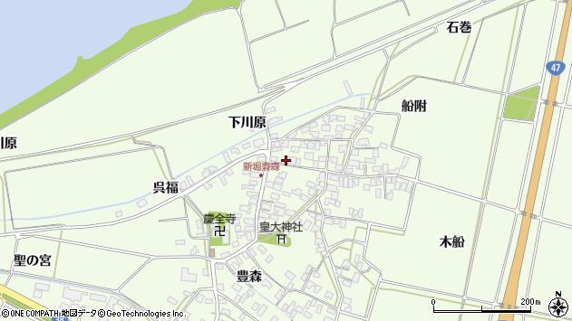 山形県酒田市新堀豊森97周辺の地図