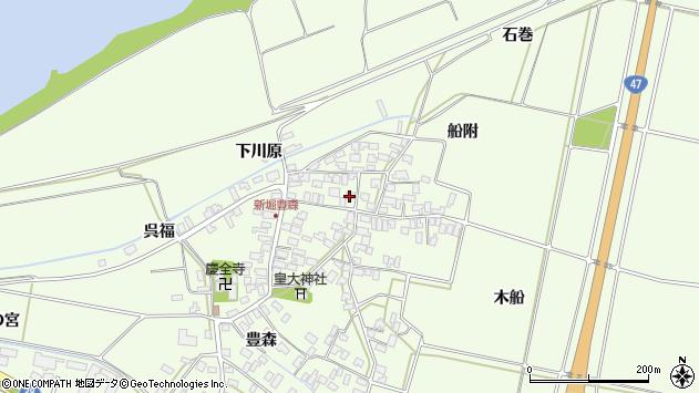 山形県酒田市新堀豊森103周辺の地図