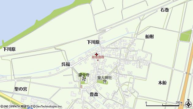 山形県酒田市新堀豊森192周辺の地図