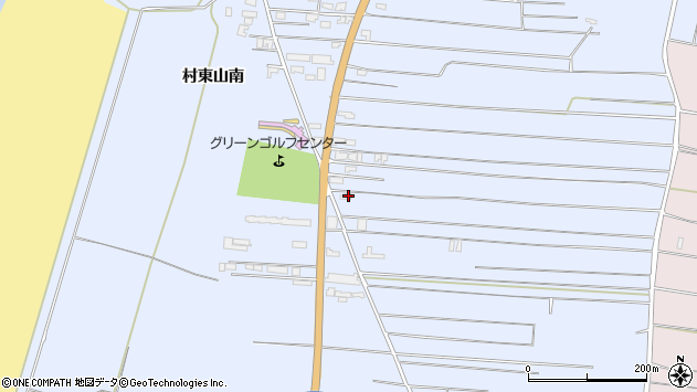 山形県酒田市十里塚村東山南314周辺の地図