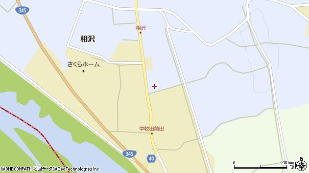 山形県酒田市中牧田谷地周辺の地図