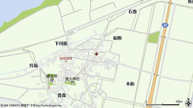 山形県酒田市新堀豊森160周辺の地図