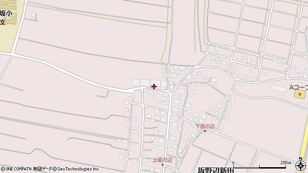 山形県酒田市坂野辺新田地続山973周辺の地図
