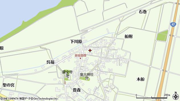 山形県酒田市新堀豊森183周辺の地図