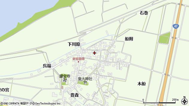 山形県酒田市新堀豊森176周辺の地図