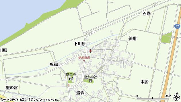 山形県酒田市新堀豊森185周辺の地図
