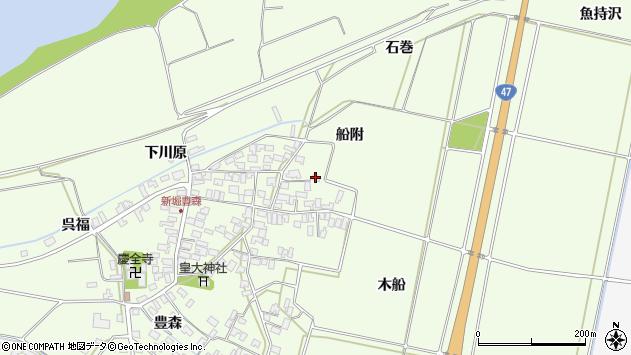 山形県酒田市新堀船附70周辺の地図