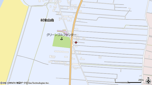 山形県酒田市十里塚村東山南317周辺の地図