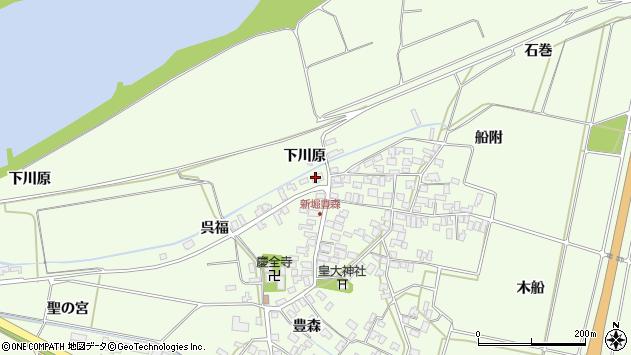 山形県酒田市新堀豊森193周辺の地図