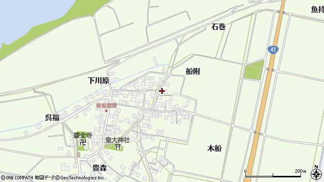 山形県酒田市新堀豊森161周辺の地図
