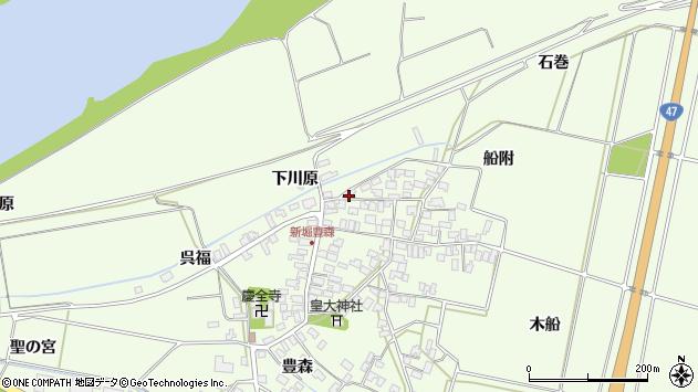 山形県酒田市新堀豊森181周辺の地図