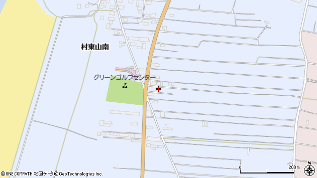 山形県酒田市十里塚村東山南325周辺の地図
