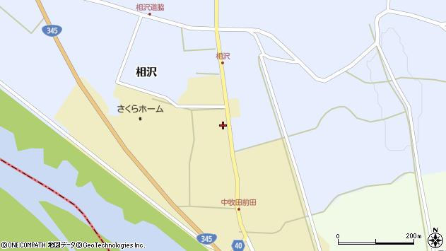 山形県酒田市中牧田谷地78周辺の地図