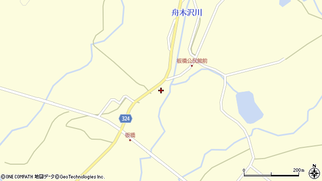山形県最上郡金山町朴山564周辺の地図