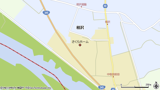 山形県酒田市中牧田丸福周辺の地図