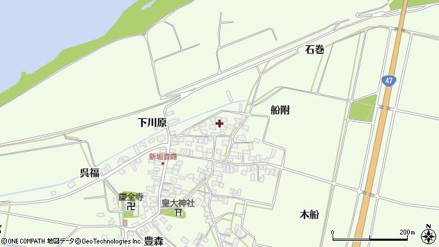 山形県酒田市新堀船附111周辺の地図