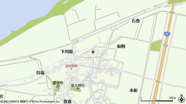 山形県酒田市新堀船附112周辺の地図