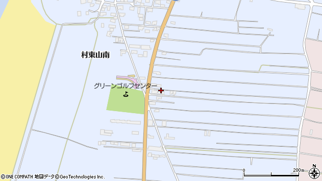 山形県酒田市十里塚村東山南328周辺の地図