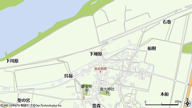 山形県酒田市新堀下川原34周辺の地図