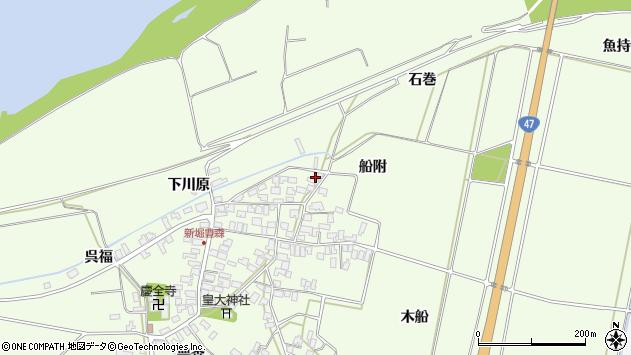 山形県酒田市新堀船附107周辺の地図