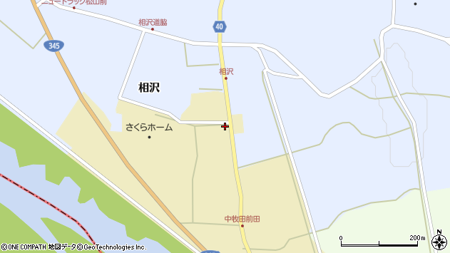 山形県酒田市中牧田谷地75周辺の地図