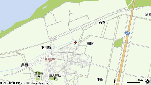山形県酒田市新堀船附109周辺の地図