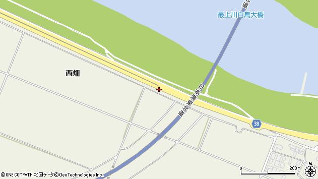 山形県酒田市落野目西田周辺の地図