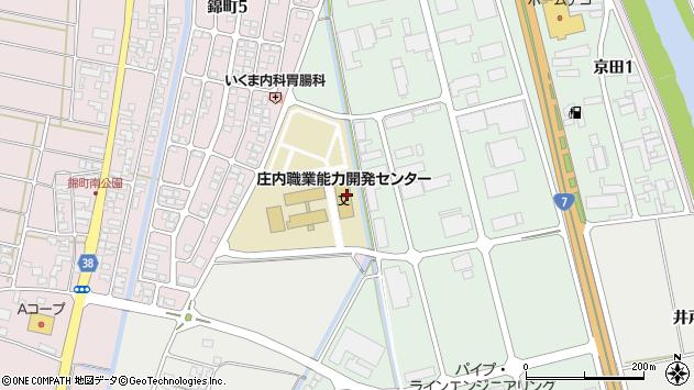 山形県酒田市京田3丁目周辺の地図