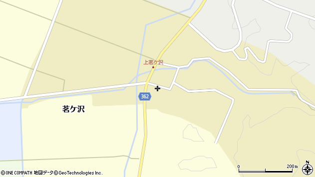 山形県酒田市茗ケ沢沢尻147周辺の地図