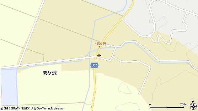 山形県酒田市茗ケ沢沢尻144周辺の地図