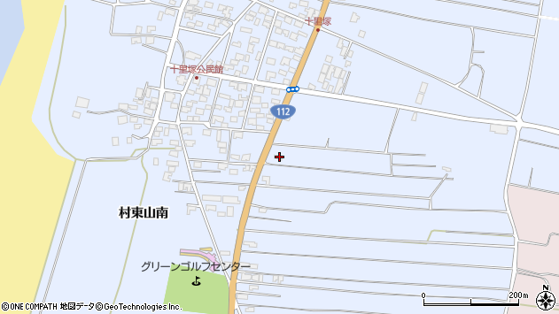 山形県酒田市十里塚村東山南372周辺の地図