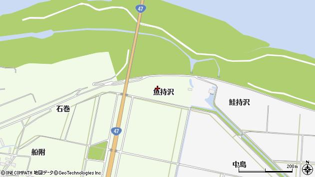 山形県酒田市新堀魚持沢周辺の地図