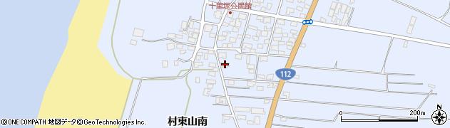 山形県酒田市十里塚村東山南376周辺の地図