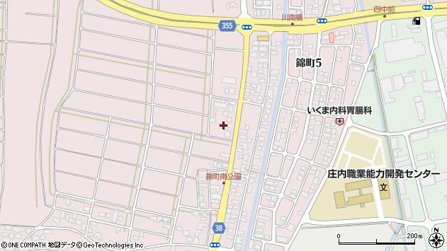 山形県酒田市坂野辺新田東狢山184周辺の地図