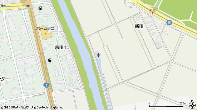 山形県酒田市落野目新田128周辺の地図