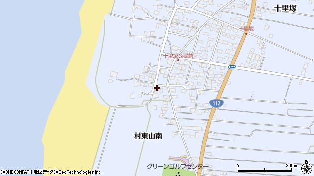 山形県酒田市十里塚村東山南386周辺の地図