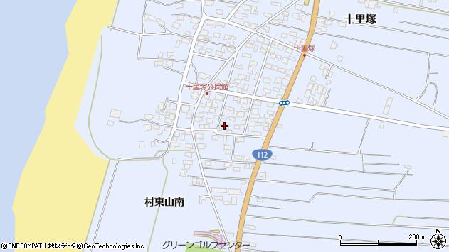山形県酒田市十里塚村東山南3周辺の地図
