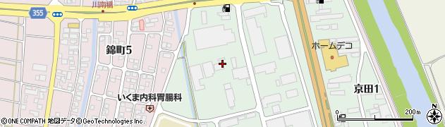 山形県酒田市京田2丁目1周辺の地図